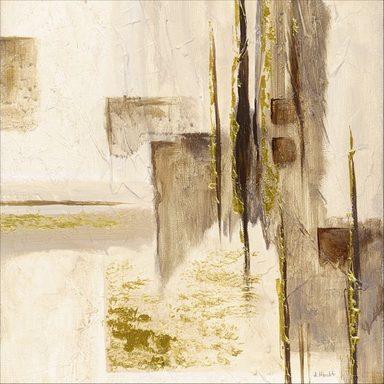 Artland Wandfolie »Anton Maller: Goldene Silhouette I«