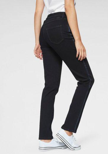 MAC Stretch-Jeans »Melanie-Glitter-Galloon« Glitzer-Galon an auf den Seitennähten