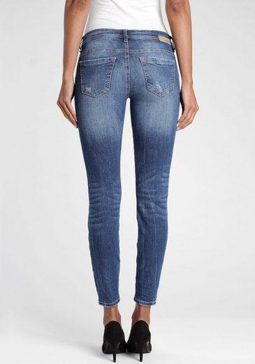 GANG Skinny-fit-Jeans »Faye« mit Destroyed-Effekten