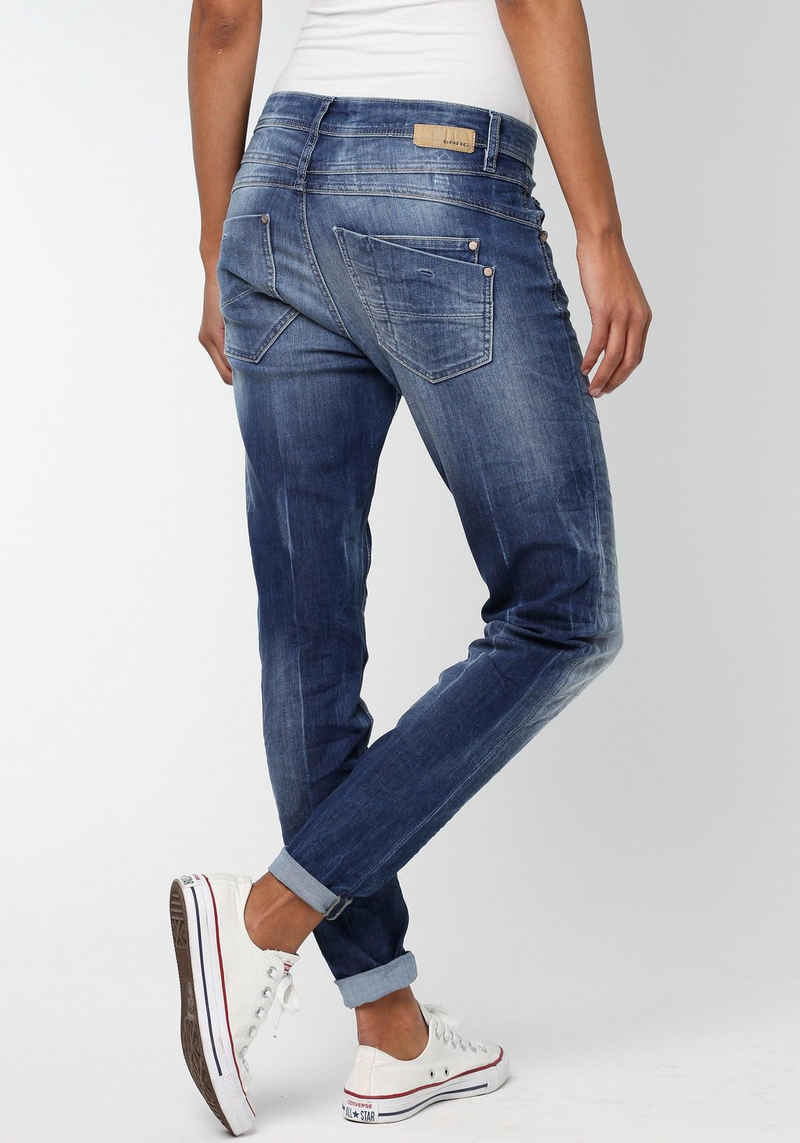 GANG Relax-fit-Jeans »Amelie Relaxed Fit« mit Used-Effekten