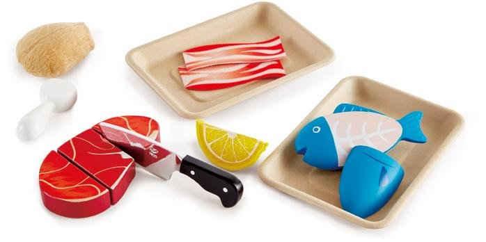 Hape Spiellebensmittel »Fisch & Fleisch Set«, (9-tlg)