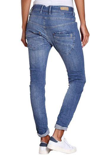 GANG Skinny-fit-Jeans »Marge« mit halb offenen Knopf-Verschluss