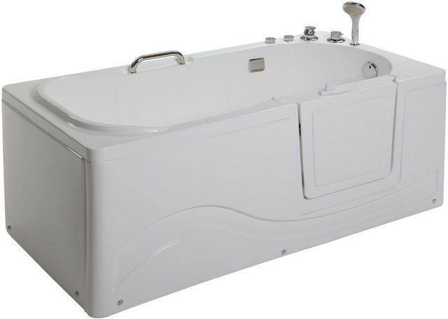 Badewannen und Whirlpools - HOME DELUXE Whirlpool Badewanne »Vital M«, liegend mit Rechtseinstieg  - Onlineshop OTTO