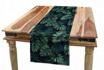 Abakuhaus Tischläufer »Esszimmer Küche Rechteckiger Dekorativer Tischläufer«, Palme Exotische Dschungel Laub Muster