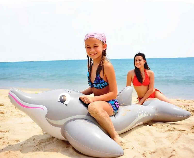 SunClub Schwimmtier »Aufblasbarer Delfin, Wassertier«, 152x90cm