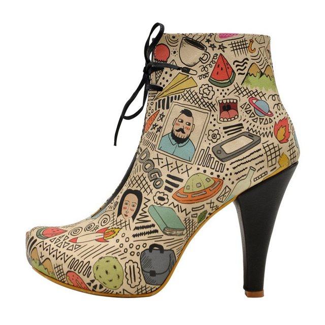 DOGO »doodle« High-Heel-Stiefelette Vegan | Schuhe > High Heels > High Heel Stiefeletten | DOGO