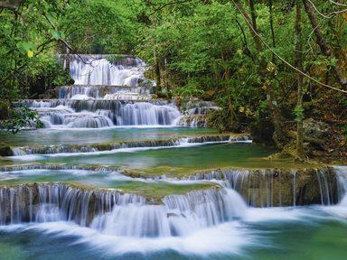 Artland Wandfolie »lkunl: Wald Wasserfall in Kanchanaburi Thailand«