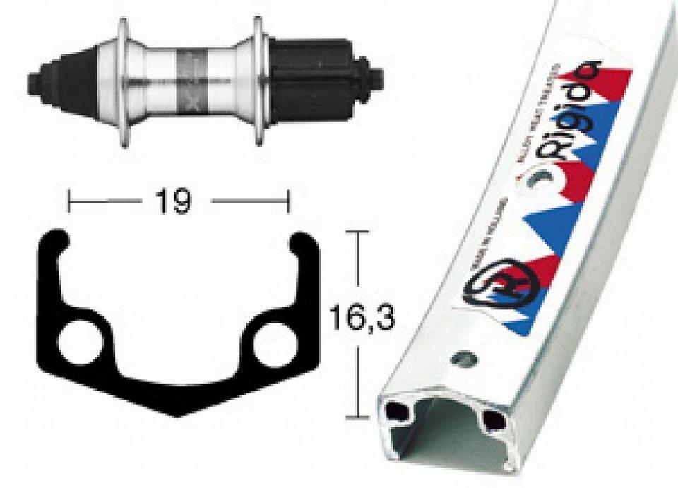Rigida Laufrad »Apex H-Rad 28 x 1.75 mit Nabe RM-40, 7-Fach«