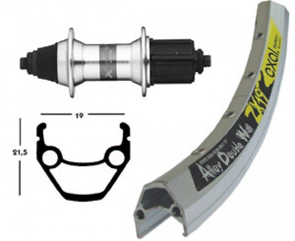 Exal Laufrad »ZX 19 H-Rad 26 x 1.75 mit 7-Fach Nabe«