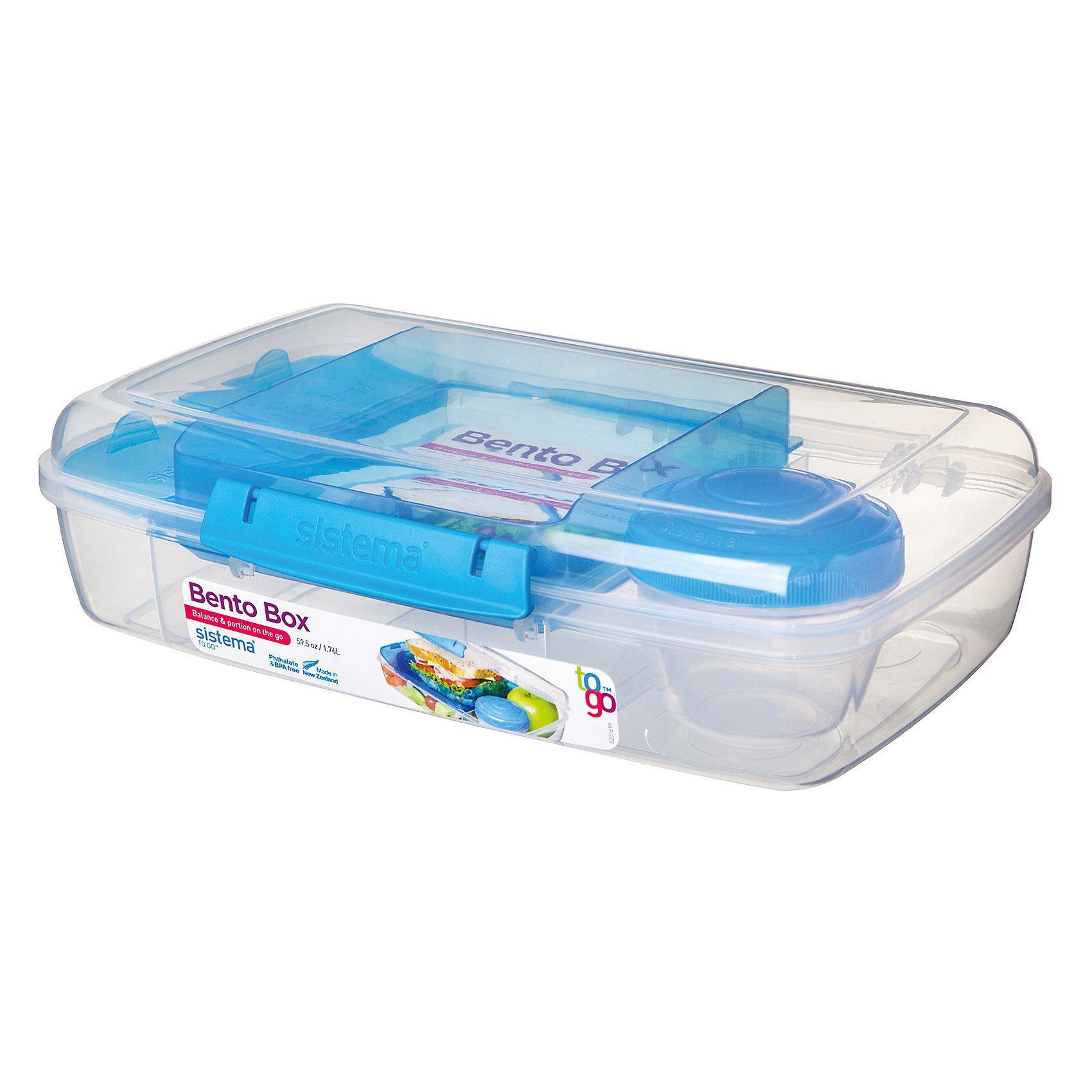 sistema LUNCH Brotdose Bento Box, inkl. Joghurt-Dose, blau