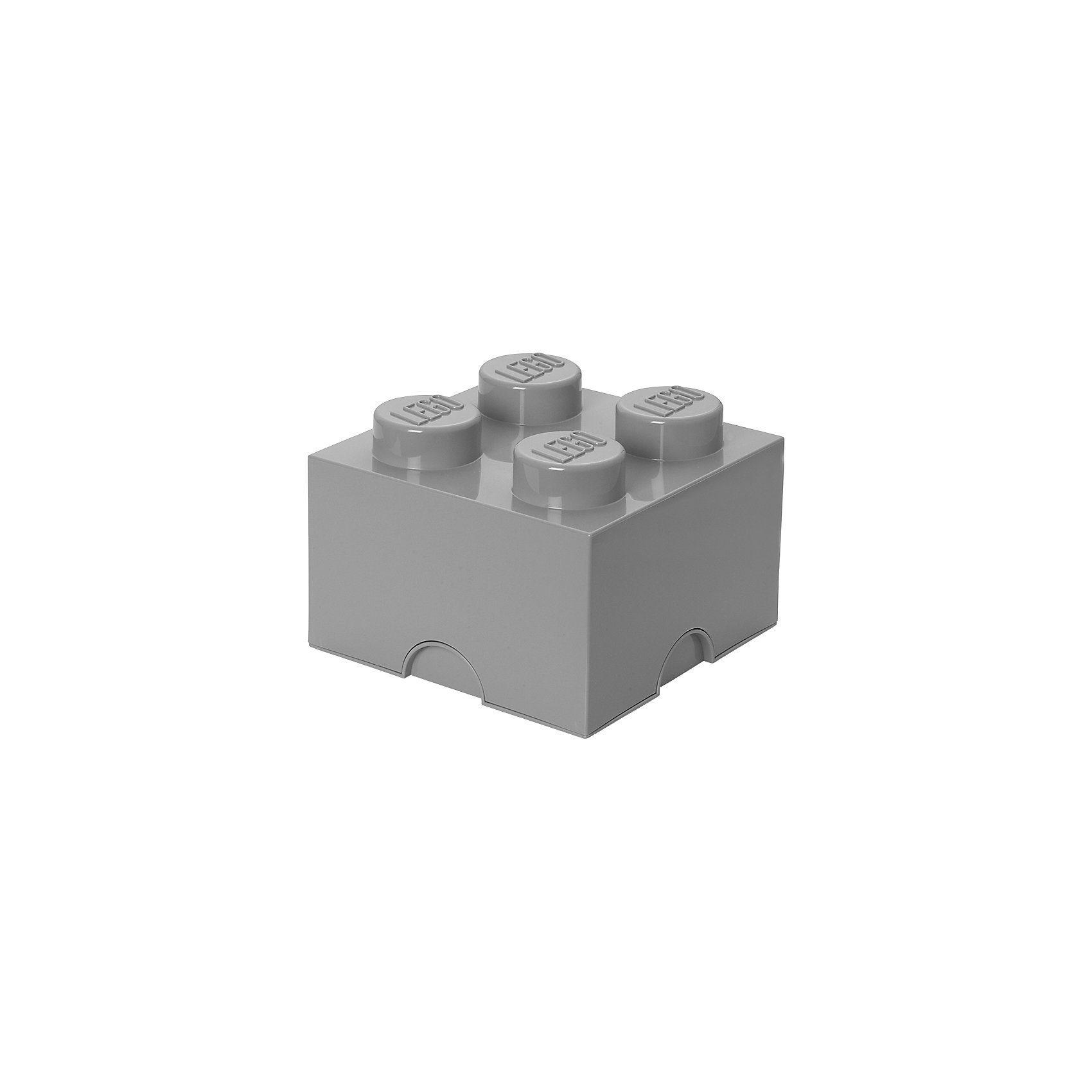 LEGO® Aufbewahrungsbox Storage Brick Stein grau, 4 Noppen
