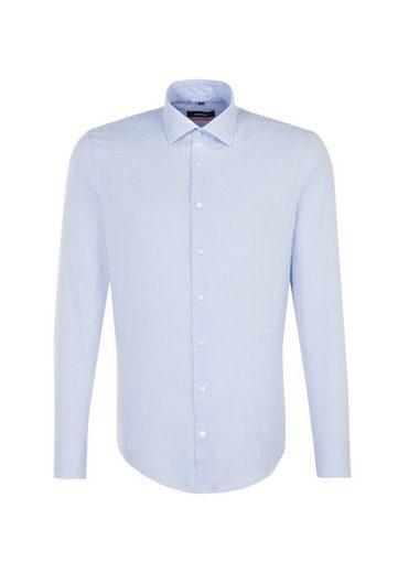 Slim Businesshemd Kent »slim« kragen Uni Langarm Seidensticker gFxSqng