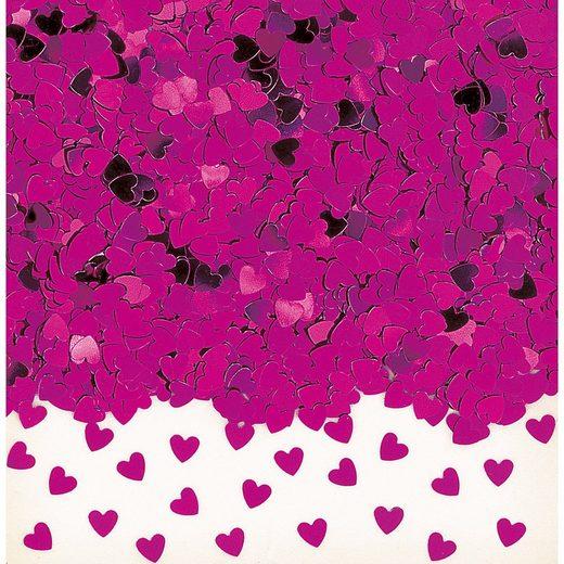 Amscan Konfetti Sparkle Hearts, pink