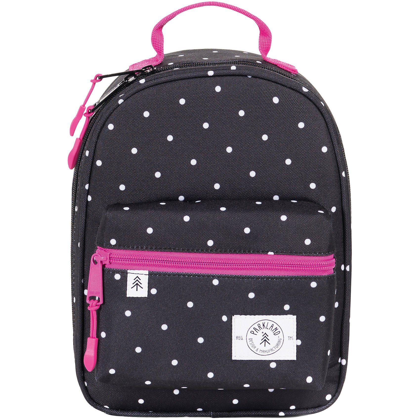 Unisex PARKLAND Kühltasche Lunch Bag THE RODEO Polka Dots schwarz | 00828432199884