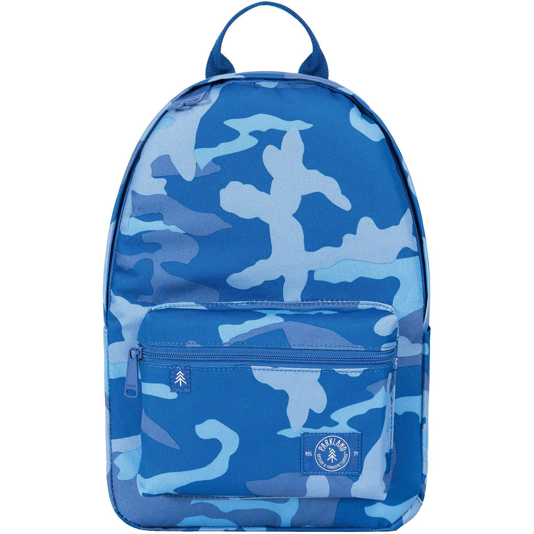 Unisex PARKLAND Kinderrucksack THE EDISON Woodland Camo Blue blau | 00828432199655