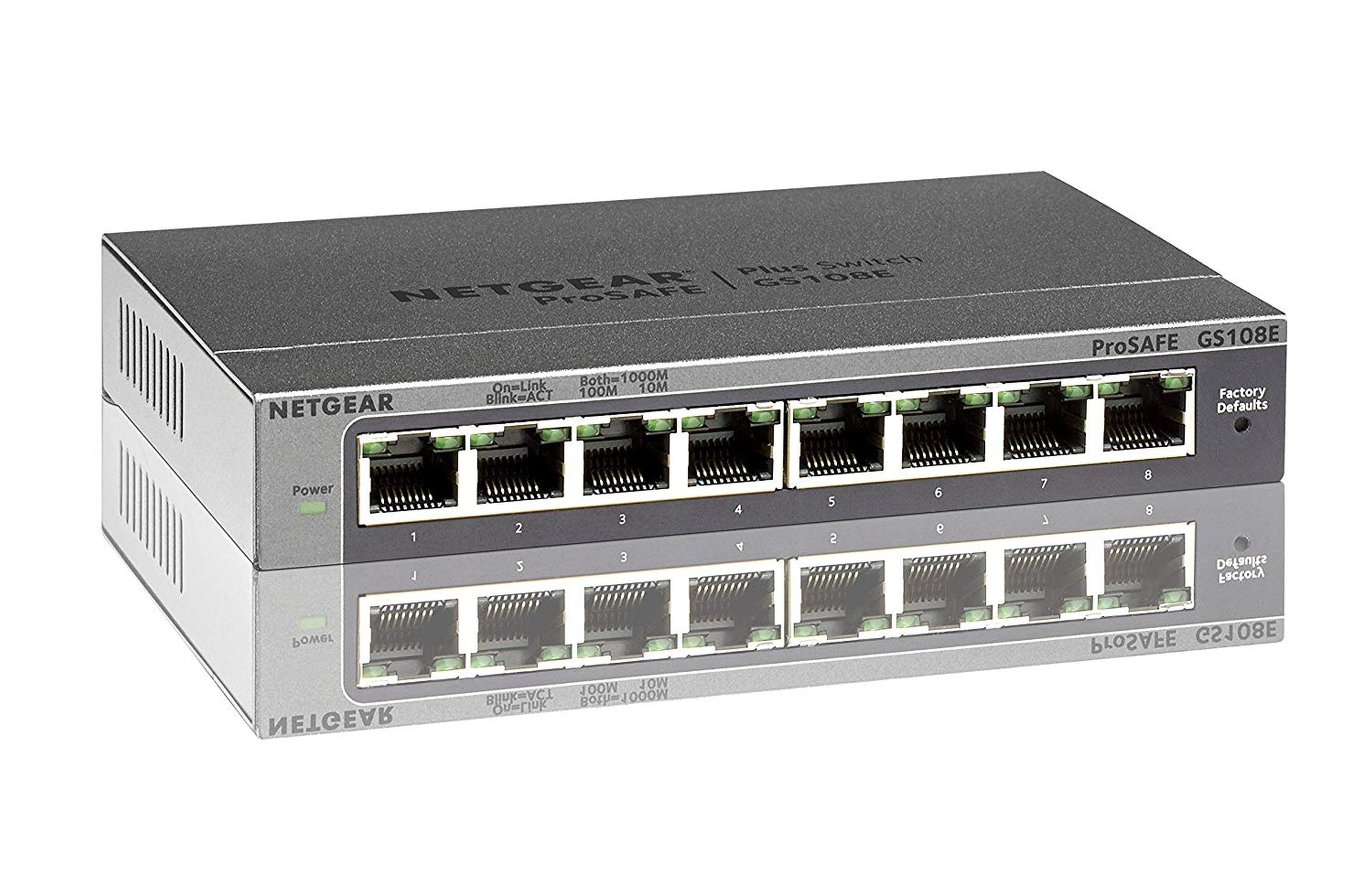 NETGEAR Switch GS108E - 8 Port »Gigabit Smart Managed Plus Switches«