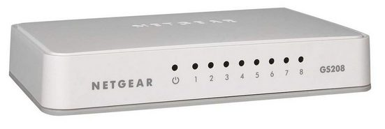 NETGEAR Switch GS208 -8 Port »Home/Office Ethernet Switches«