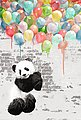 Deco-Panel »Panda Ballons«, Bild 2