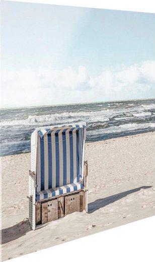 Glasbild »Strandkorb«, 30/30 cm