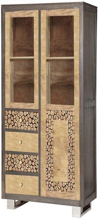The Wood Times Vitrinenschrank »Texas«, Breite 100 cm