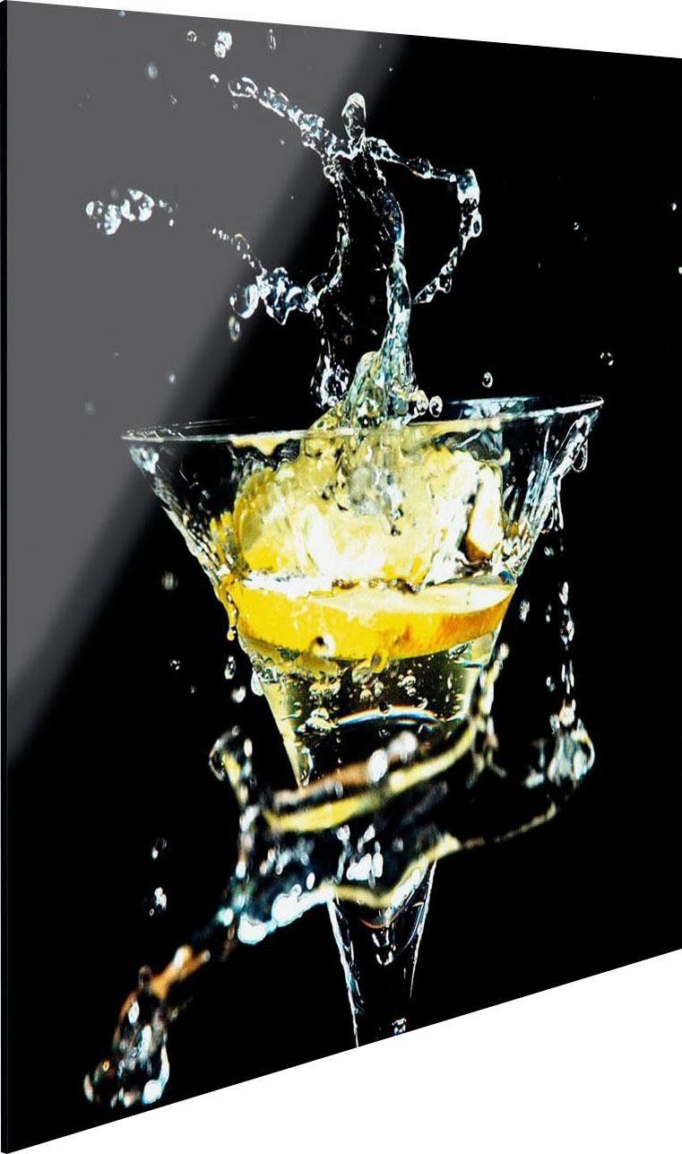 Glasbild »Cocktail Splash Zitrone«, 30/30 cm