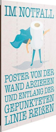Deco-Panel »Im Notfall Kloposter«