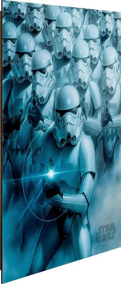 deco panel star wars episode vii stormtroopers 40 50 cm online kaufen otto. Black Bedroom Furniture Sets. Home Design Ideas