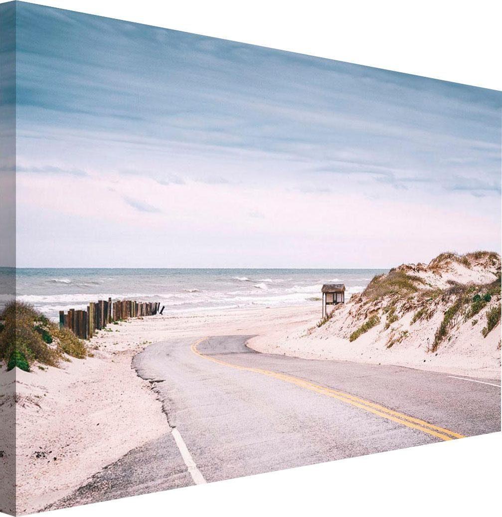 Holzbild »Straße zum Strand«, 118/70 cm