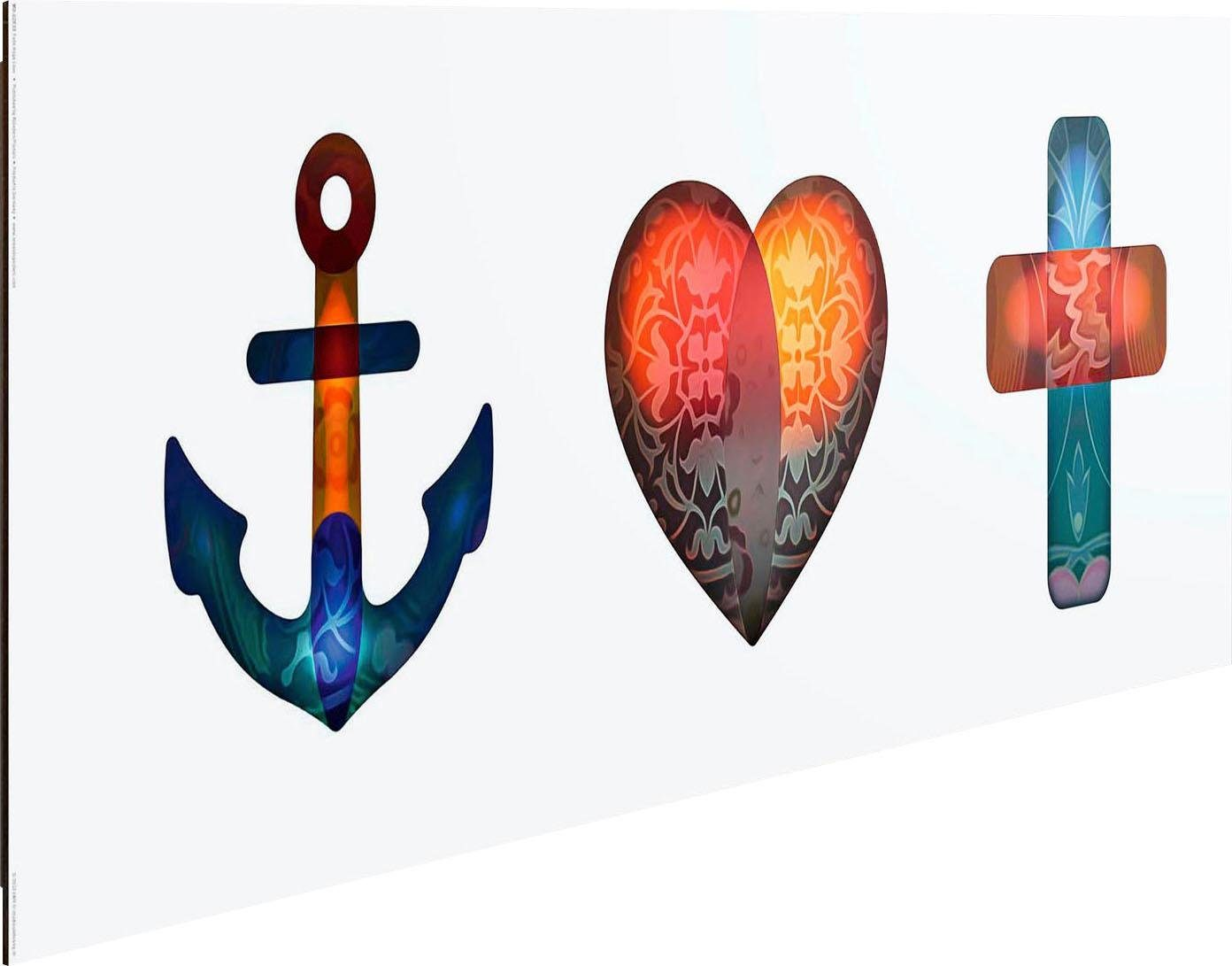 Deco-Panel »Glaube, Liebe, Hoffnung«, 90/30 cm