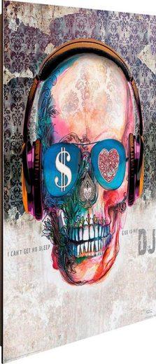 Deco-Panel »Skull DJ«