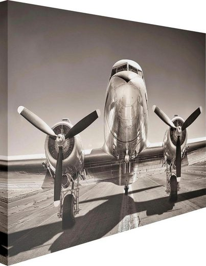 Leinwandbild »Retro Flugzeug«