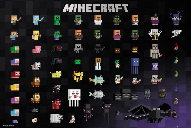 Deco-Panel »Minecraft Pixel«, Game-Plakat