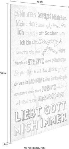 Deco-Panel »Gott liebt mich Spruch«