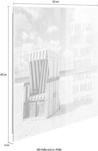 Deco-Panel »Freiheit am Strand«