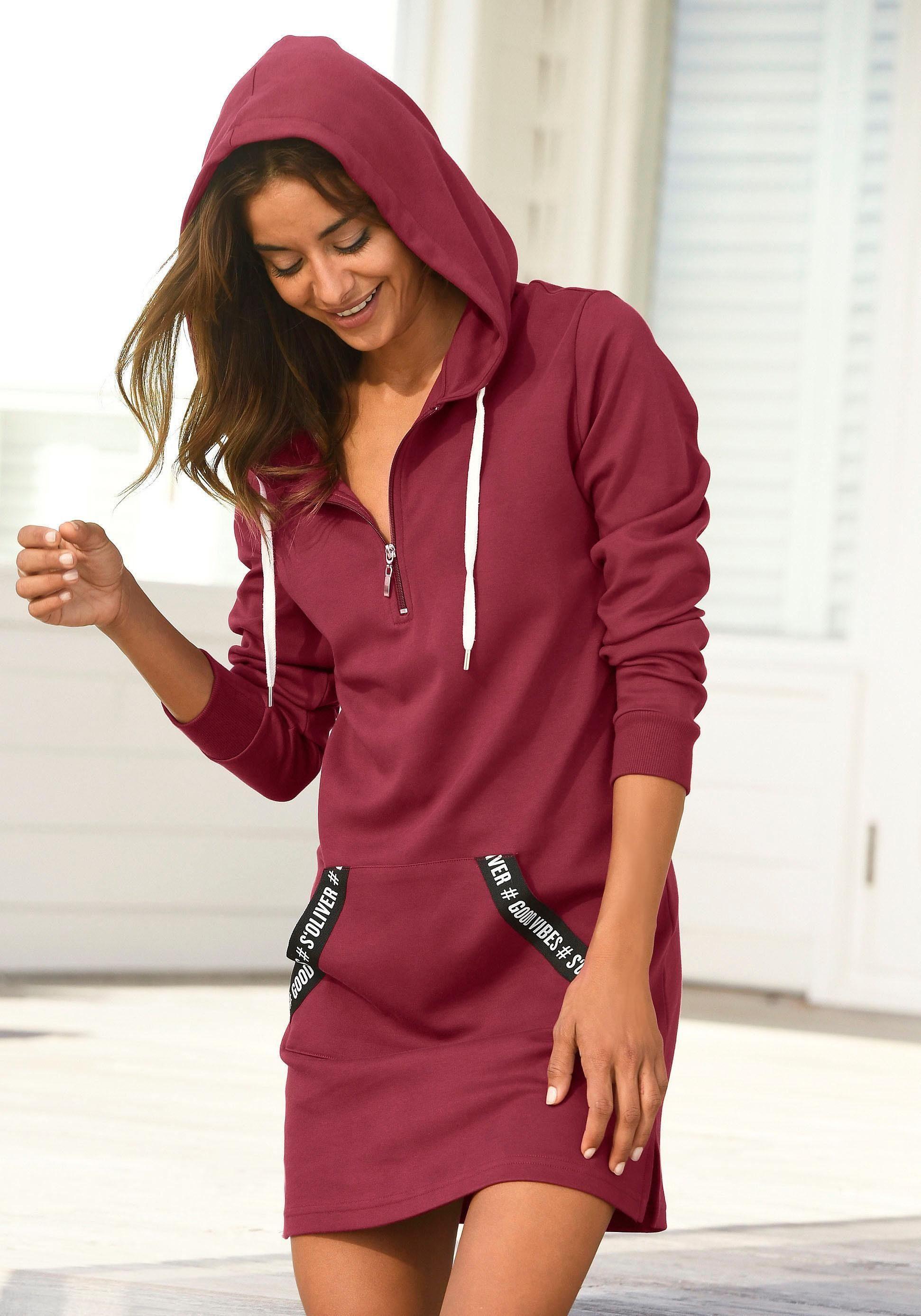 AJC Longsweatshirt mit Zierreißverschluss an Kängurutasche online kaufen | OTTO