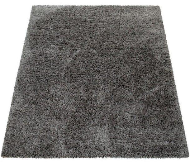 Hochflor-Teppich »Punto 400«, Paco Home, rechteckig, Höhe 50 mm, weicher Hochflor in Uni mit Flokati Optik