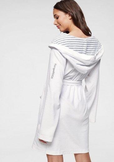 Mit Und Innen Unifarben Weiß »cilia«KangaroosAußen grau Streifen Damenbademantel WEeDb2Y9HI