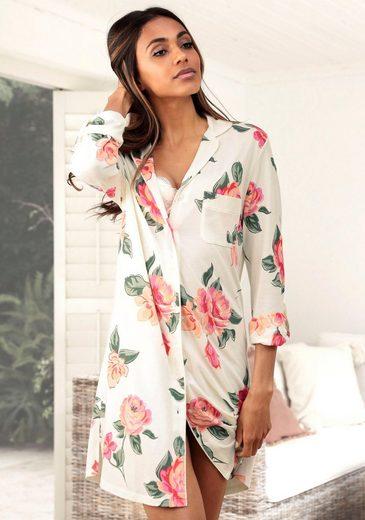 Vivance Dreams Nachthemd in klassischer Form mit Blumenprint