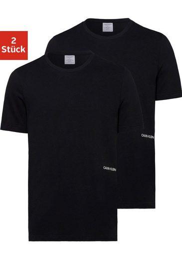 Calvin Klein Rundhalsshirt »STATEMENT 1981« (2er-Pack) mit Logo an der Seite