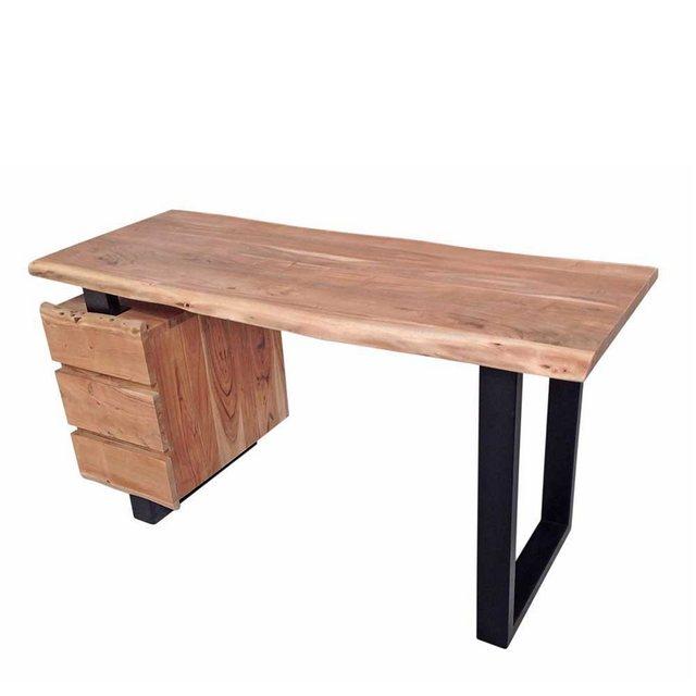 Schreibtische - Pharao24 Schreibtisch »Keuna«, mit Baumkante  - Onlineshop OTTO