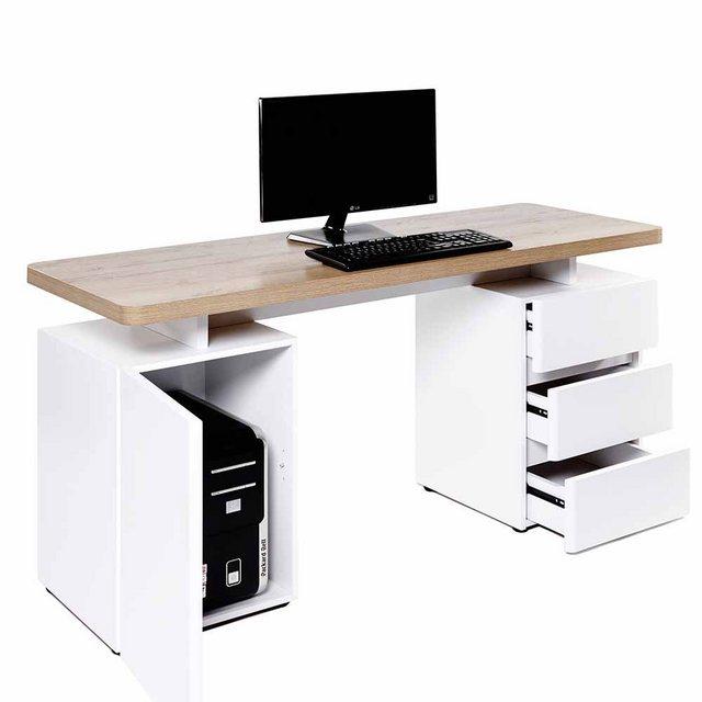 Schreibtische - Pharao24 Schreibtisch »Culesco«, mit Towerfach  - Onlineshop OTTO