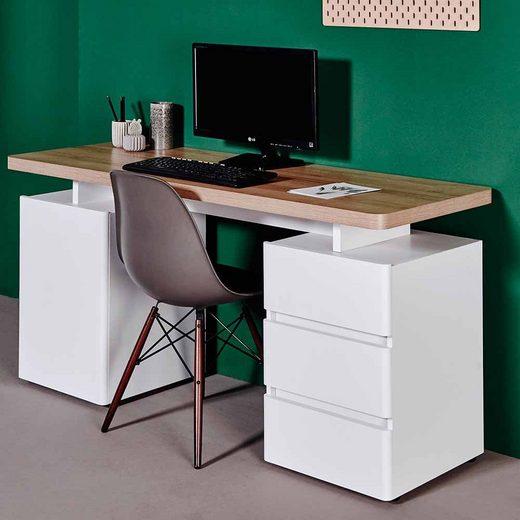 Pharao24 Schreibtisch »Culesco«, mit Towerfach