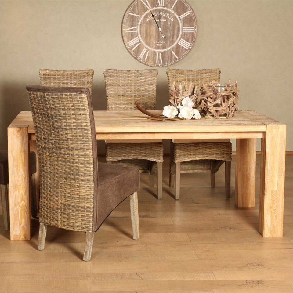 Pharao24 Esstisch »Jona«, aus Massivholz, Tisch Massivholz mit Massivholzplatte online kaufen   OTTO