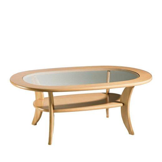 Pharao24 Glastisch »Jansonna«, mit ovaler Tischplatte