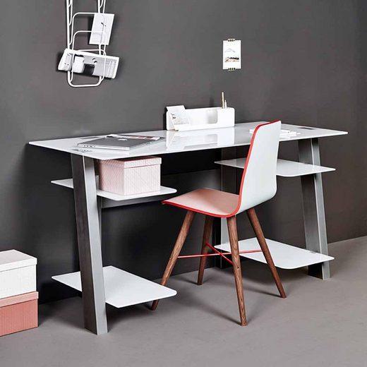 Pharao24 Schreibtisch »Fabiella«, mit Towerfach