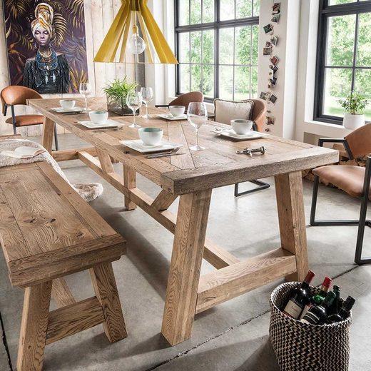 Pharao24 Tisch »Krona«, aus Massivholz