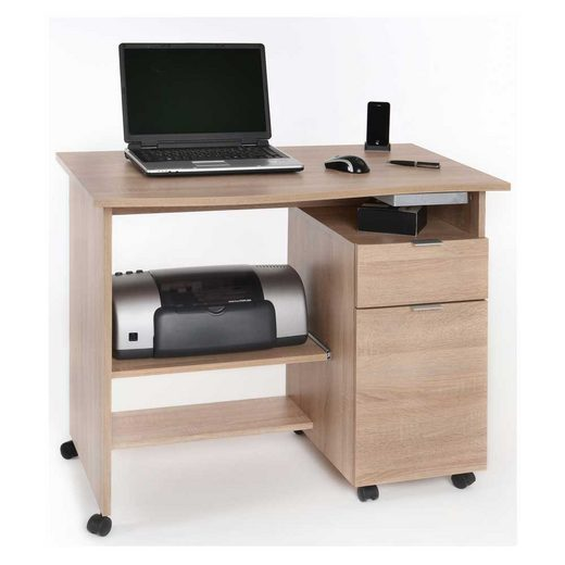 Pharao24 Schreibtisch »Loreana«, mit Druckerablage