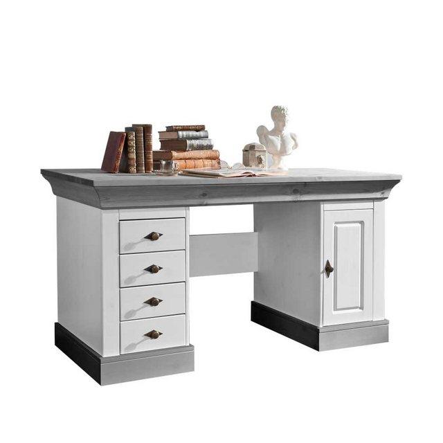 Schreibtische - Pharao24 Schreibtisch »Sandra«, mit Knieraumblende  - Onlineshop OTTO