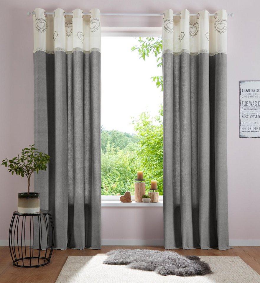 gardine louis home affaire sen 1 st ck bio. Black Bedroom Furniture Sets. Home Design Ideas