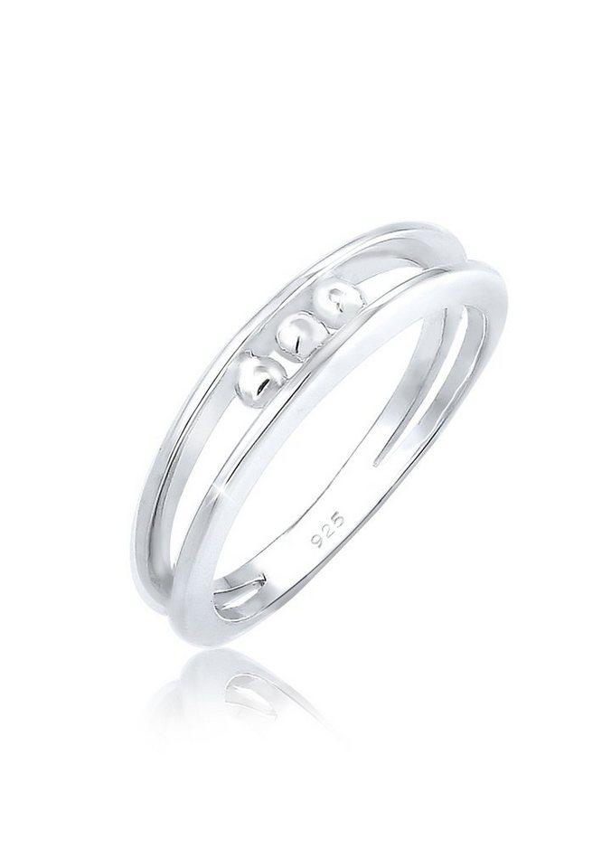 Elli Fingerring »Bandring Kugeln Geo Look Basic Zart 925er Silber« | Schmuck > Ringe > Fingerringe | Elli
